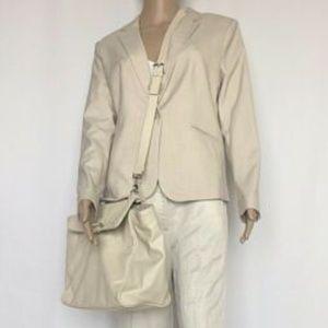 NWT Mossimo Cream Tote Handbag